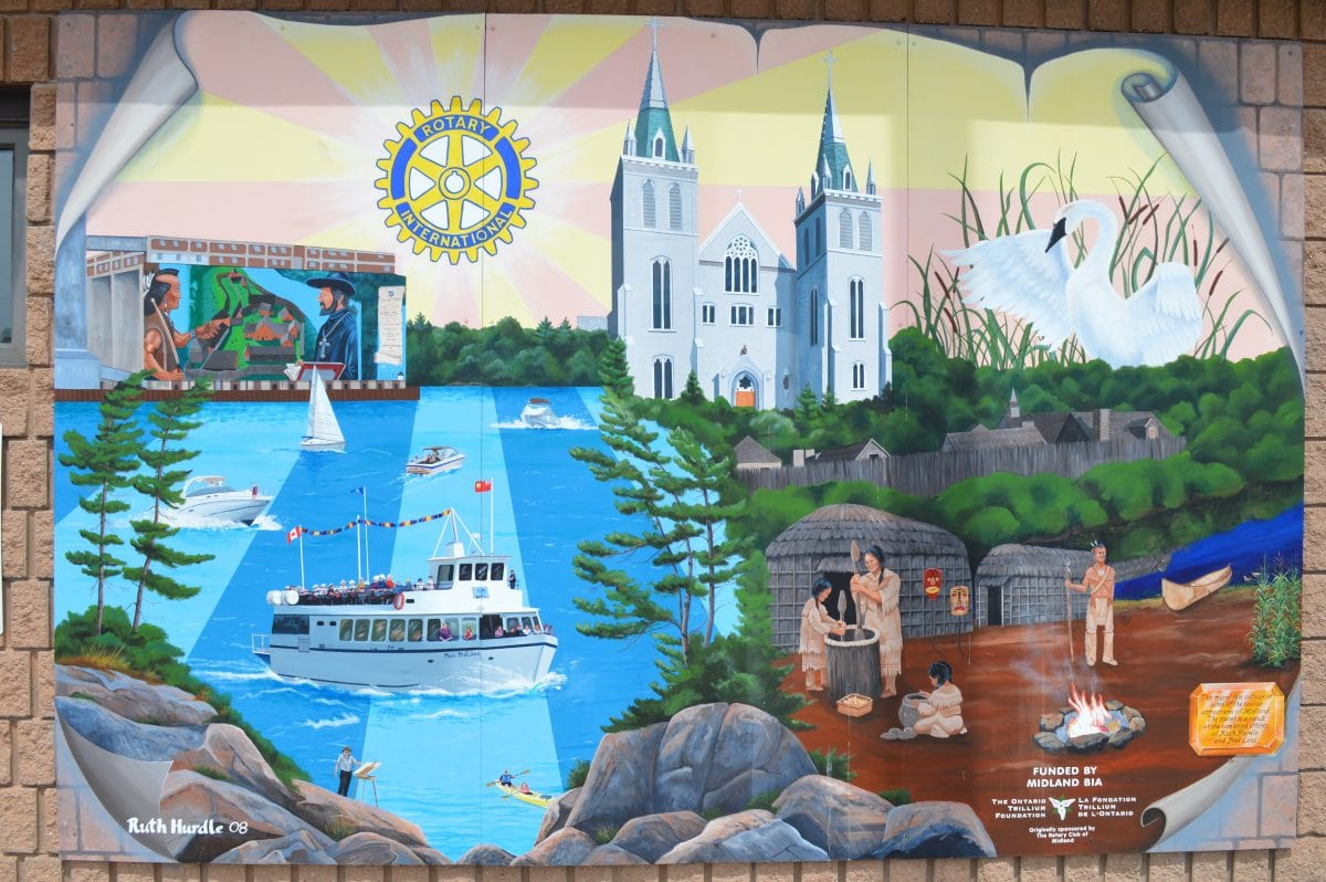 Rotary mural mural routes for California mural