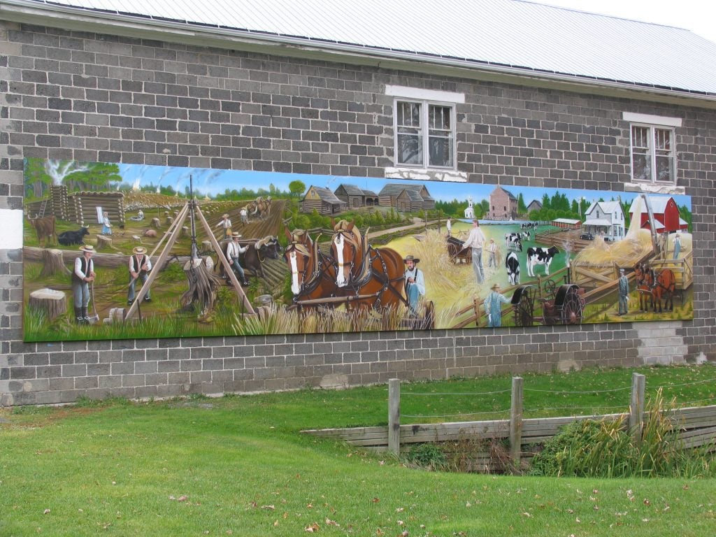 History of agriculture mural routes for Mural history