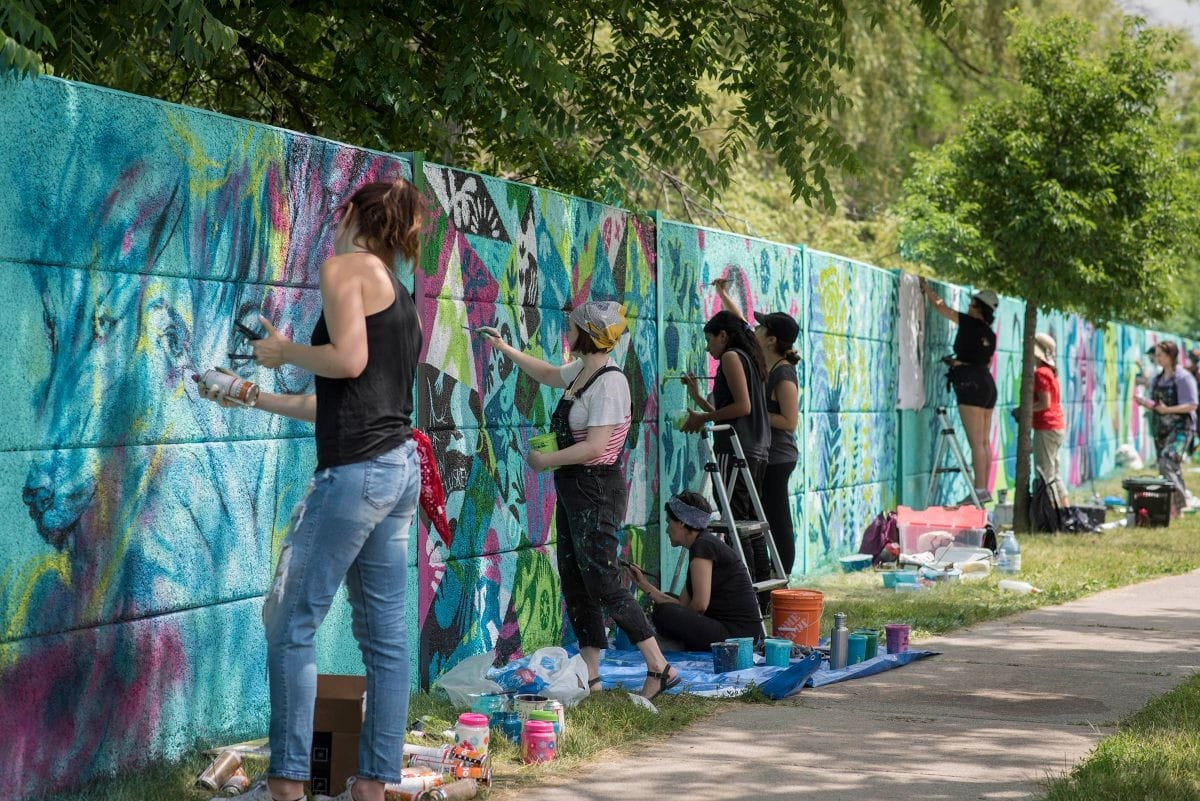 Womxn Paint, as part of Augmented Representations: The North Etobicoke Mural Project.